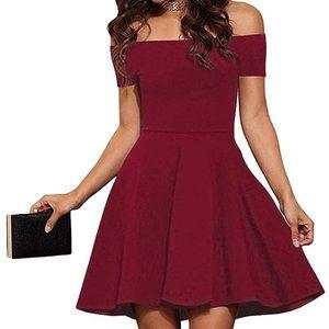 Dresses & Skirts - Off The Shoulder Short Sleeve Cocktail Dress